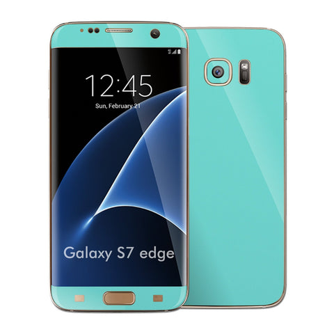 Samsung Galaxy S7 EDGE Mint Matt Skin Wrap Decal Sticker Cover Protector by EasySkinz