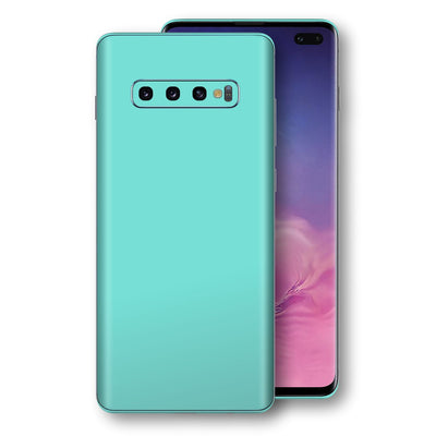 Samsung Galaxy S10+ PLUS MINT Matt Skin, Decal, Wrap, Protector, Cover by EasySkinz | EasySkinz.com