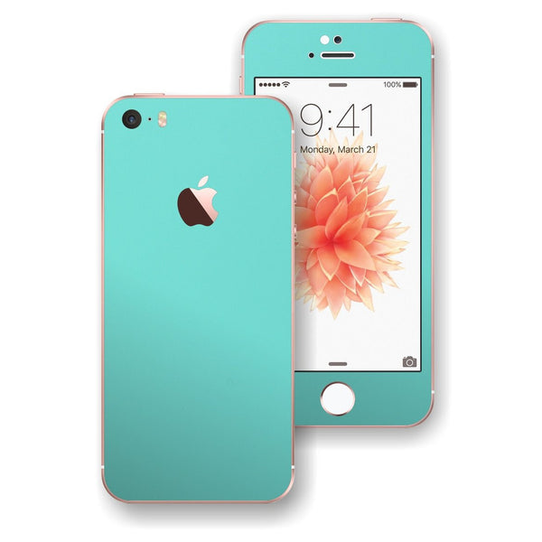 iPhone SE Mint Matt Matte Skin Wrap Decal Sticker Cover Protector by EasySkinz