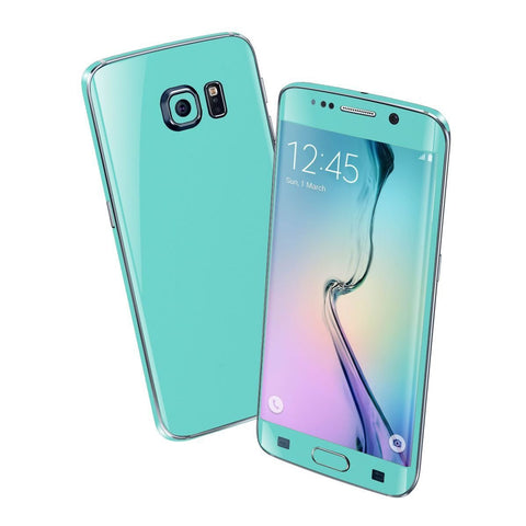 Samsung Galaxy S6 EDGE Mint Matt Matte Skin Wrap Sticker Cover Protector Decal by EasySkinz