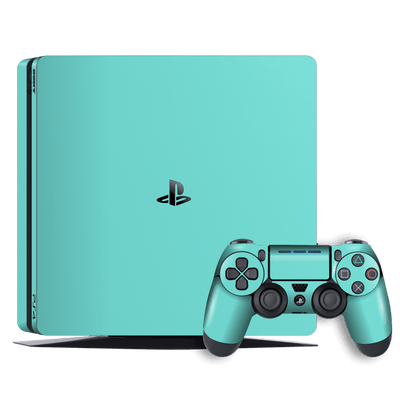 Playstation 4 SLIM PS4 Slim Mint Matt Skin Wrap Decal by EasySkinz