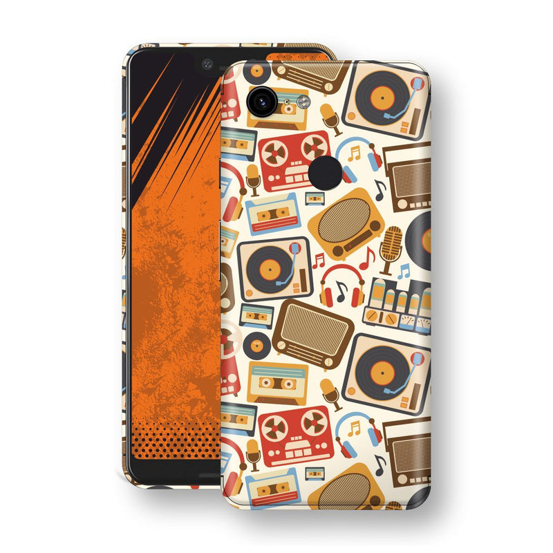 Google Pixel 3 XL Print Custom Signature Abstract Retro 1 Skin Wrap Decal by EasySkinz - Design 1