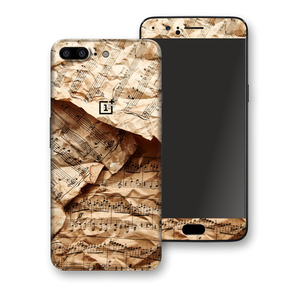 OnePlus 5 Music Paper Notebook Skin, Decal, Wrap, Protector, Cover by EasySkinz | EasySkinz.com