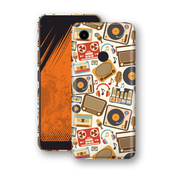 Google Pixel 3a Print Custom Signature Abstract Retro 1 Skin Wrap Decal by EasySkinz - Design 1