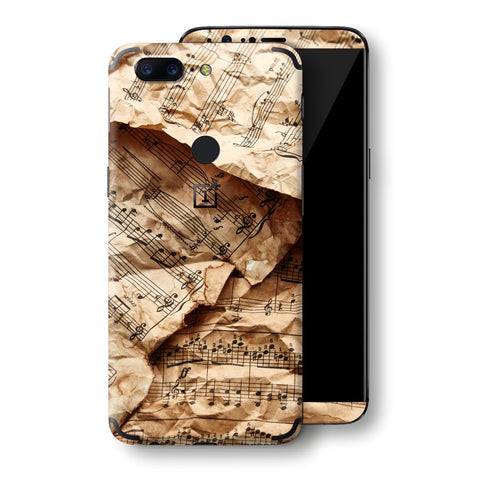 OnePlus 5T Music Paper Notebook Skin, Decal, Wrap, Protector, Cover by EasySkinz | EasySkinz.com