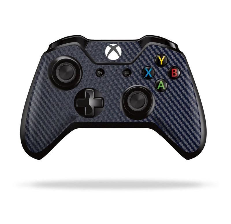 Xbox One Controller Navy Blue 3D Textured CARBON Fibre Fiber Skin Wrap Sticker Decal Protector Cover by EasySkinz