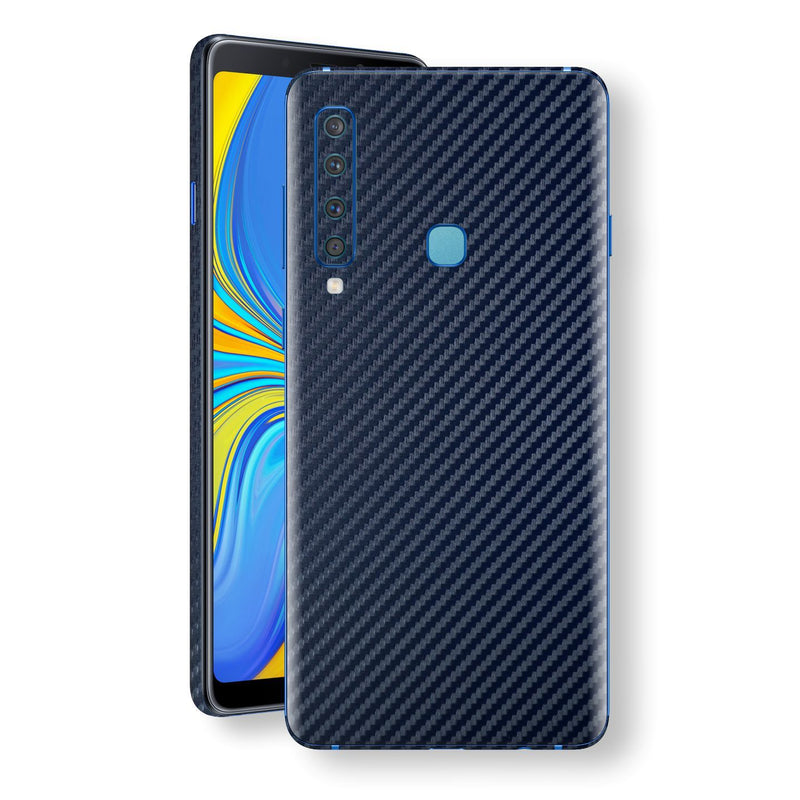Samsung Galaxy A9 (2018) 3D Textured Navy Blue Carbon Fibre Fiber Skin, Decal, Wrap, Protector, Cover by EasySkinz | EasySkinz.com