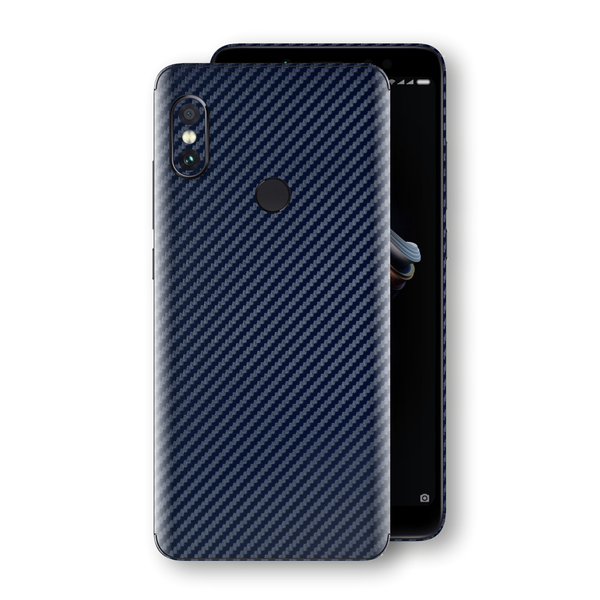 XIAOMI Redmi NOTE 5 3D Textured Navy Blue Carbon Fibre Fiber Skin, Decal, Wrap, Protector, Cover by EasySkinz | EasySkinz.com