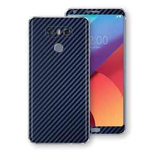 LG G6 3D Textured Navy Blue Carbon Fibre Fiber Skin, Decal, Wrap, Protector, Cover by EasySkinz | EasySkinz.com