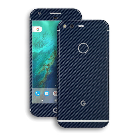 Google Pixel Navy Blue Carbon Fibre Fiber Skin Wrap Decal by EasySkinz