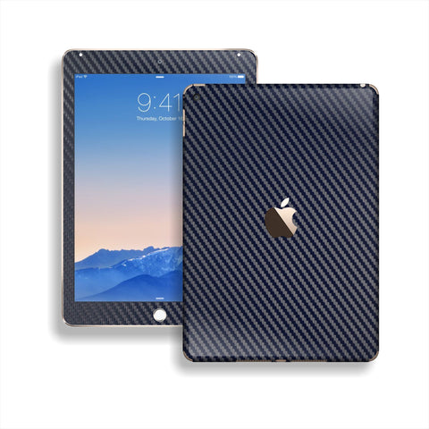 iPad Air 2 Navy Blue CARBON Fibre Fiber Skin Wrap Sticker Decal Cover Protector by EasySkinz