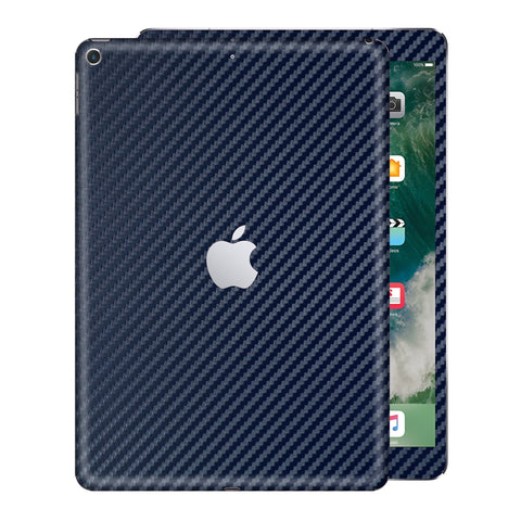 "iPad 9.7"" inch 5th Generation 2017 3D Textured Navy Blue CARBON Fibre Fiber Skin Wrap Sticker Decal Cover Protector by EasySkinz"