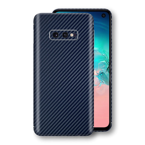 Samsung Galaxy S10e 3D Textured Navy Blue Carbon Fibre Fiber Skin, Decal, Wrap, Protector, Cover by EasySkinz | EasySkinz.com