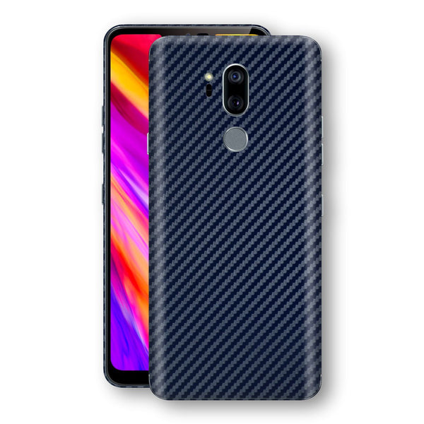 LG G7 ThinQ 3D Textured Navy Blue Carbon Fibre Fiber Skin, Decal, Wrap, Protector, Cover by EasySkinz | EasySkinz.com