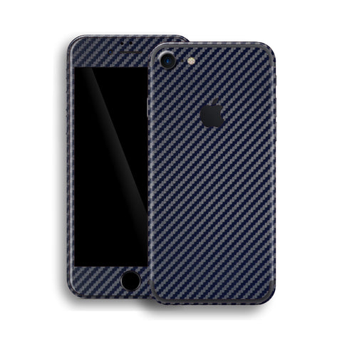 iPhone 7 Navy Blue 3D Textured CARBON Fibre Fiber Skin, Wrap, Decal, Protector, Cover by EasySkinz | EasySkinz.com
