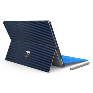 Microsoft Surface PRO 4 Blue CARBON Fibre Fiber Skin Wrap Sticker Decal Cover Protector by EasySkinz