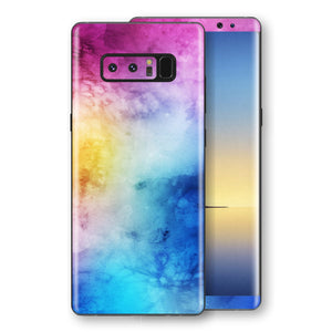 Samsung Galaxy NOTE 8 Signature Abstract Watercolour Purple Blue Skin Wrap Decal Protector | EasySkinz