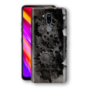LG G7 ThinQ Print Custom Signature 3D Old Machine Skin Wrap Decal by EasySkinz