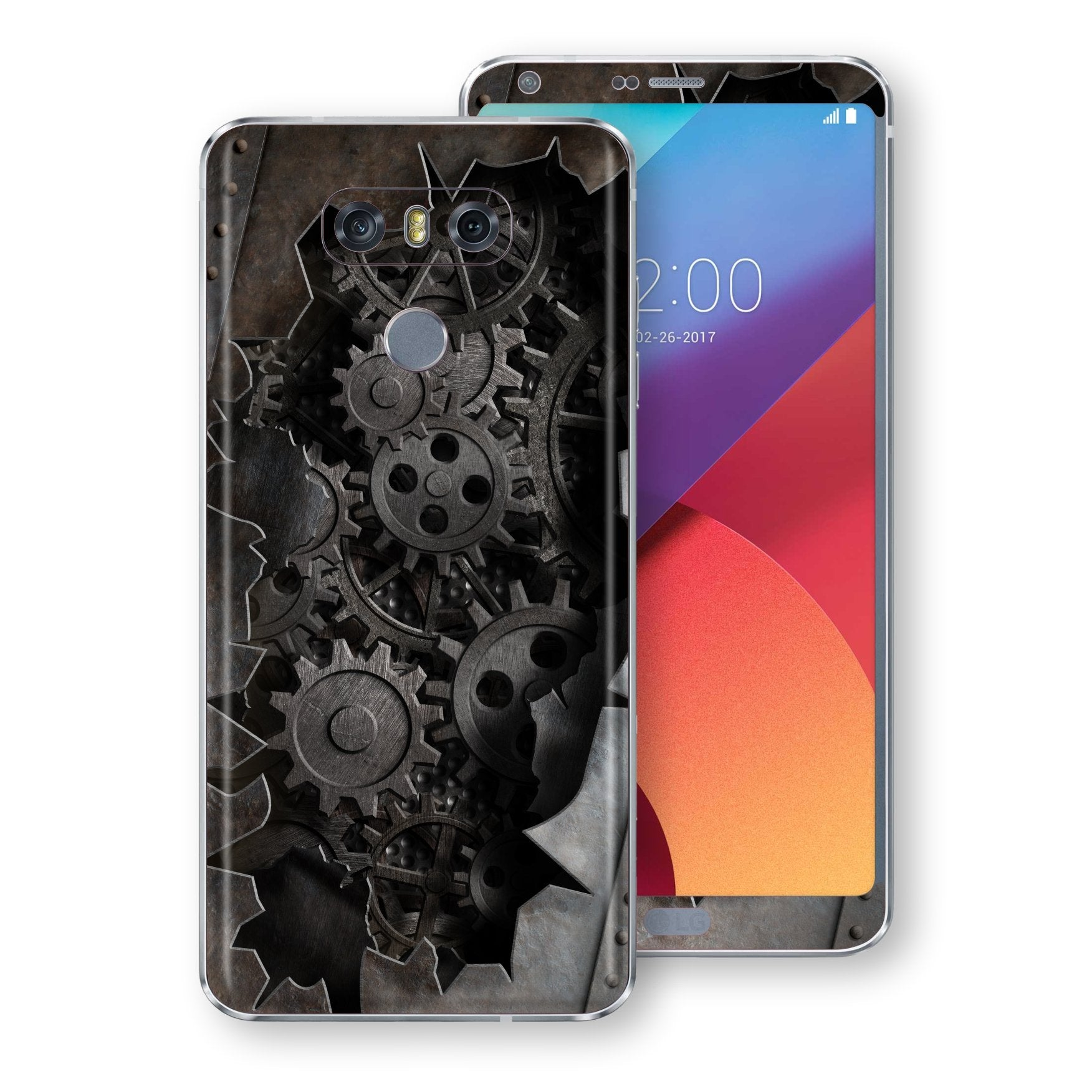 LG G6 Print Custom Signature 3D Old Machine Skin Wrap Decal by EasySkinz