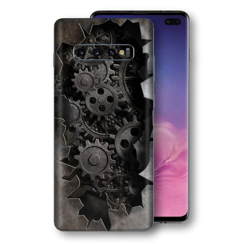 Samsung Galaxy S10+ PLUS Print Custom Signature 3D Old Machine Skin Wrap Decal by EasySkinz