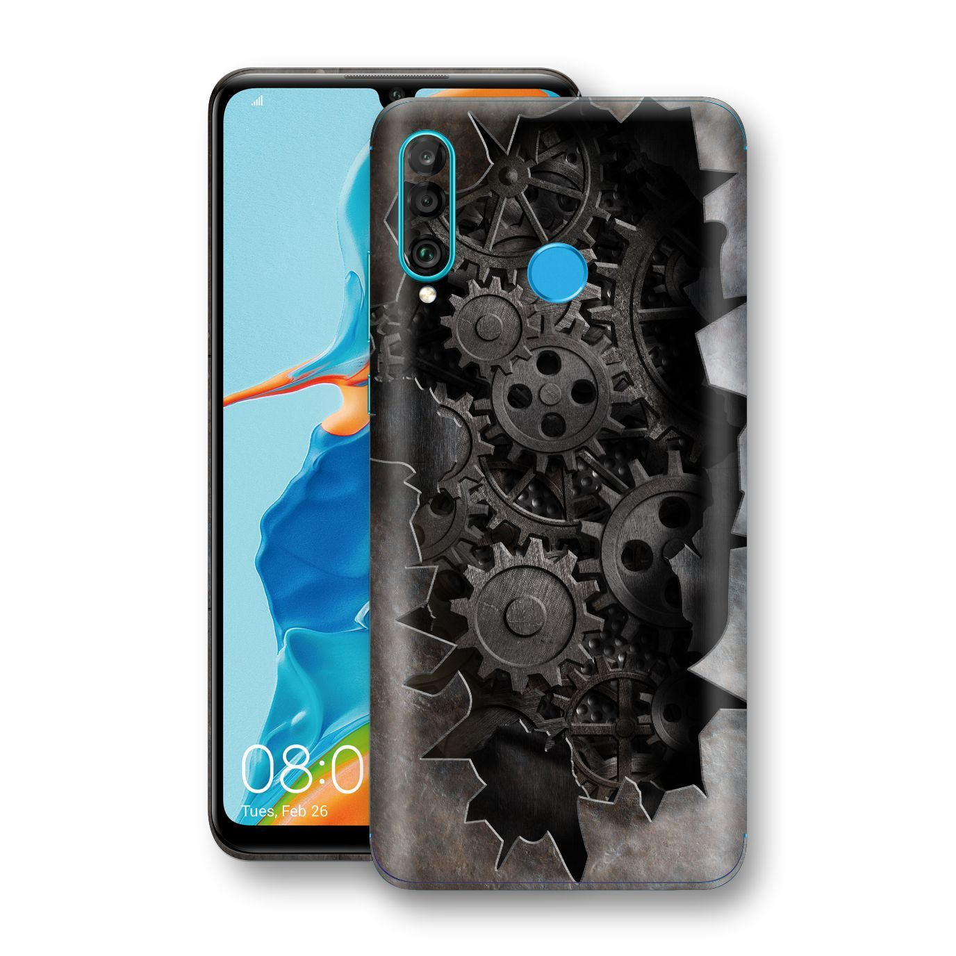 Huawei P30 LITE Print Custom Signature 3D Old Machine Skin Wrap Decal by EasySkinz