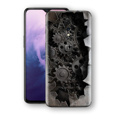 OnePlus 7 Print Custom Signature 3D Old Machine Skin Wrap Decal by EasySkinz