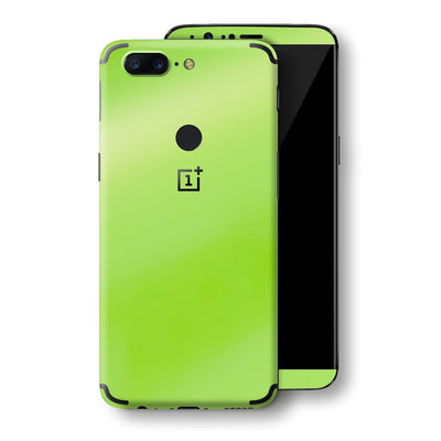 OnePlus 5T Apple Green Pearl Gloss Finish Skin, Decal, Wrap, Protector, Cover by EasySkinz | EasySkinz.com