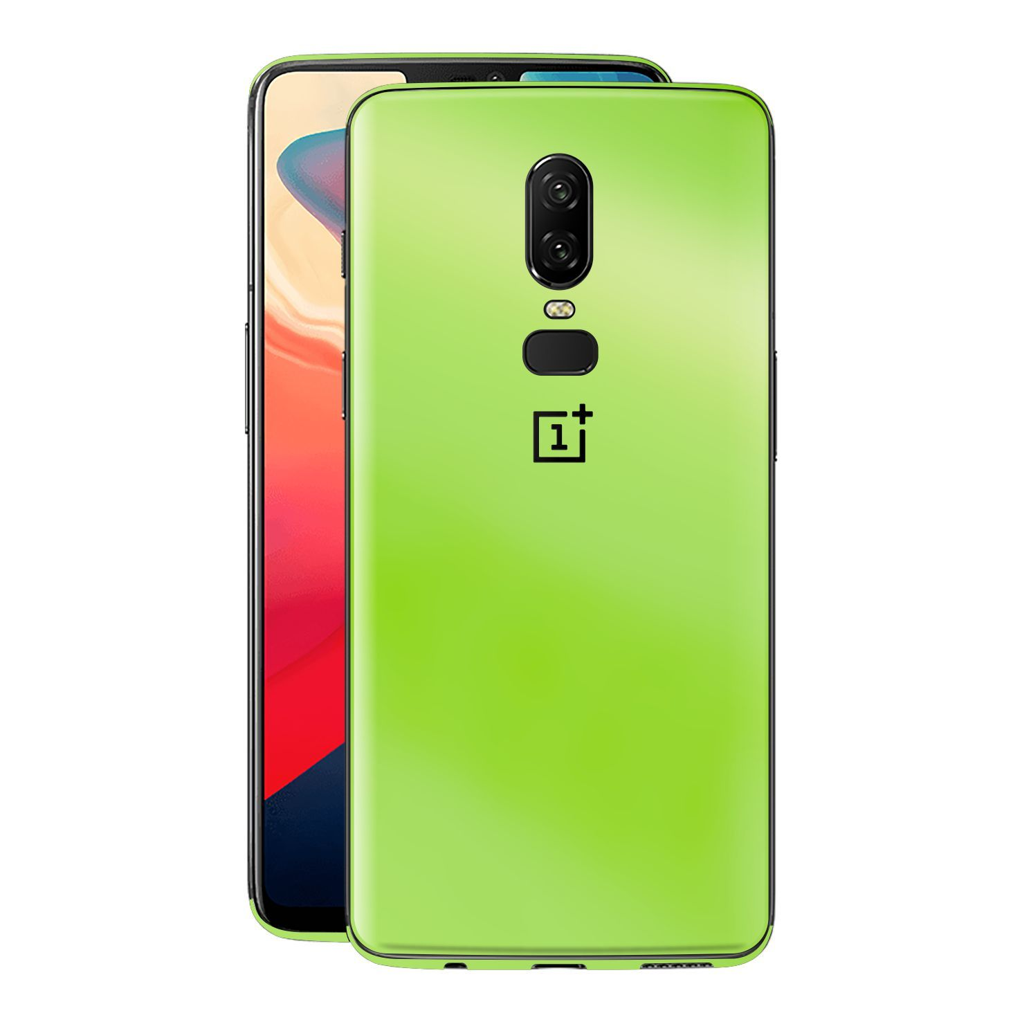 OnePlus 6 Apple Green Pearl Gloss Finish Skin Wrap Decal Cover by EasySkinz