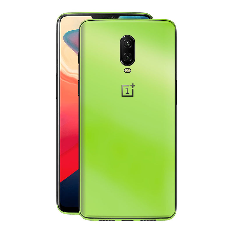 OnePlus 6T Apple Green Pearl Gloss Finish Skin Wrap Decal Cover by EasySkinz