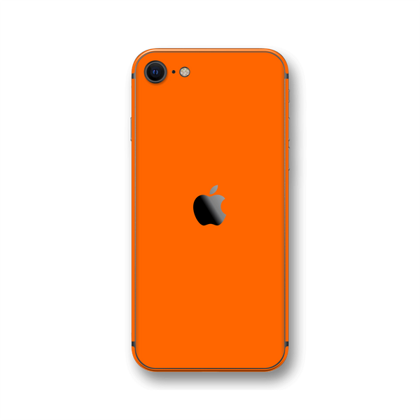 iPhone SE (2020) Orange Matt Skin Wrap Sticker Decal Cover Protector by EasySkinz