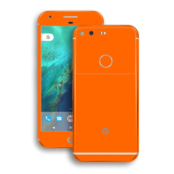 Google Pixel XL Glossy Orange Skin by EasySkinz