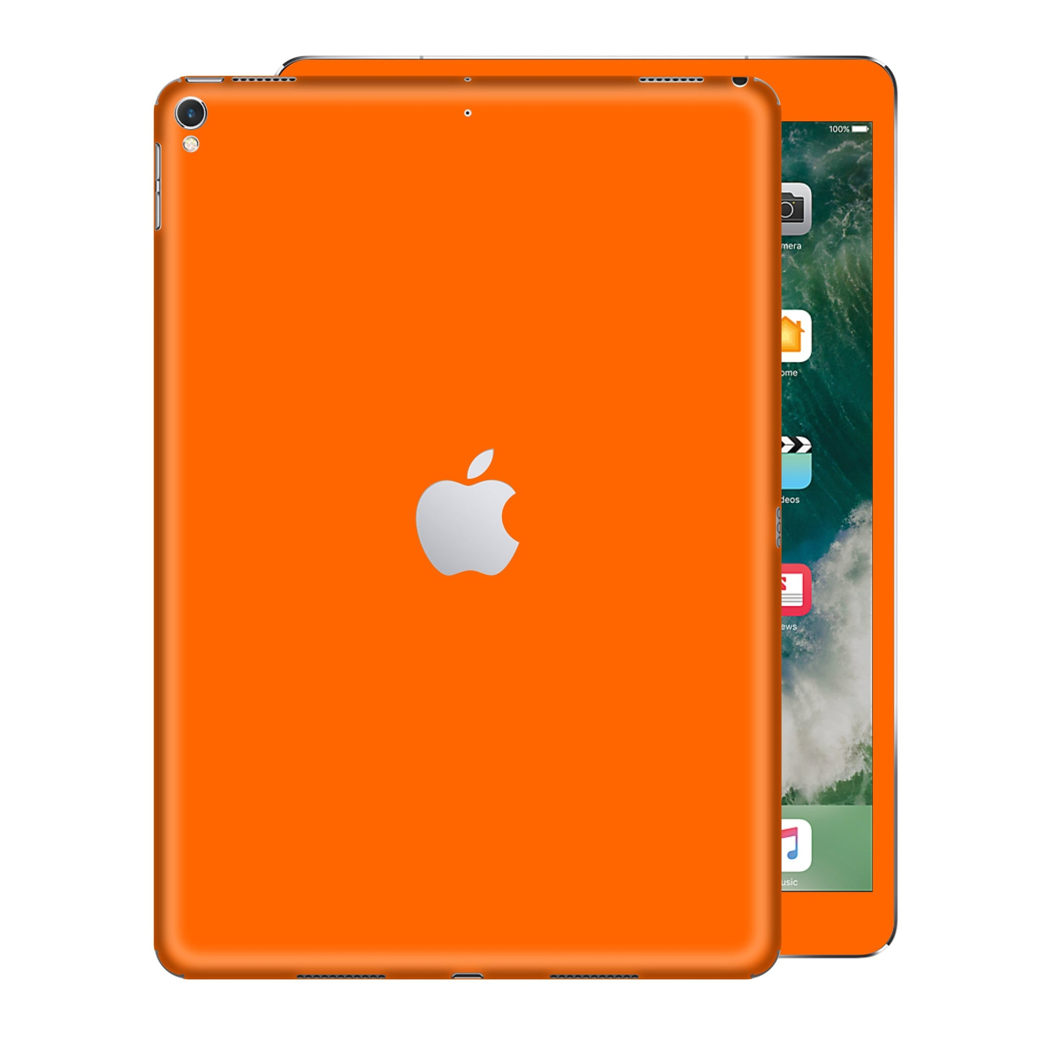 iPad PRO 12.9 inch 2017 Glossy ORANGE Skin Wrap Sticker Decal Cover Protector by EasySkinz