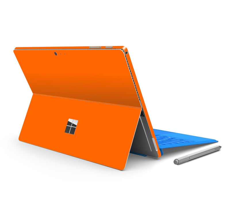 Microsoft Surface PRO 4 Glossy ORANGE Skin Wrap Sticker Decal Cover Protector by EasySkinz