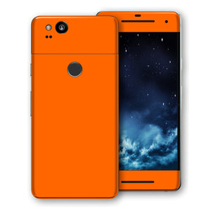 Google Pixel 2 XL Orange Glossy Gloss Finish Skin, Decal, Wrap, Protector, Cover by EasySkinz | EasySkinz.com