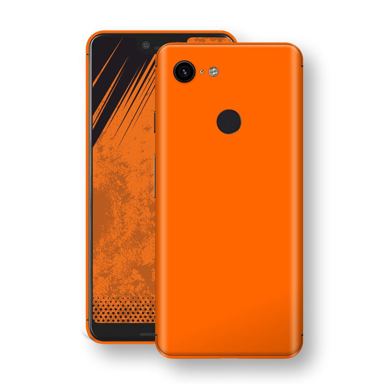 Google Pixel 3 XL Orange Matt Skin, Decal, Wrap, Protector, Cover by EasySkinz | EasySkinz.com