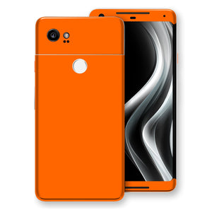 Google Pixel 2 XL Orange Matt Skin, Decal, Wrap, Protector, Cover by EasySkinz | EasySkinz.com