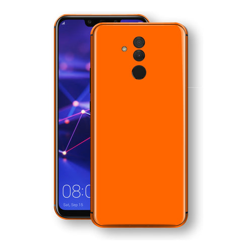 Huawei MATE 20 LITE Orange Glossy Gloss Finish Skin, Decal, Wrap, Protector, Cover by EasySkinz | EasySkinz.com