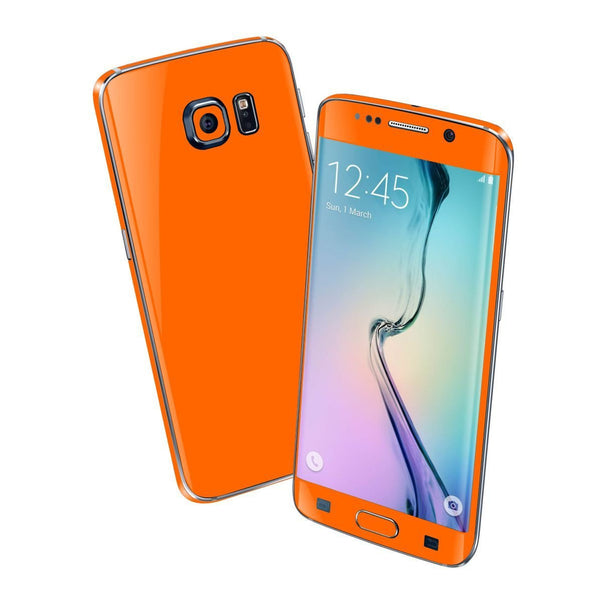 Samsung Galaxy S6 EDGE Orange Matt Matte Skin Wrap Sticker Cover Protector Decal by EasySkinz