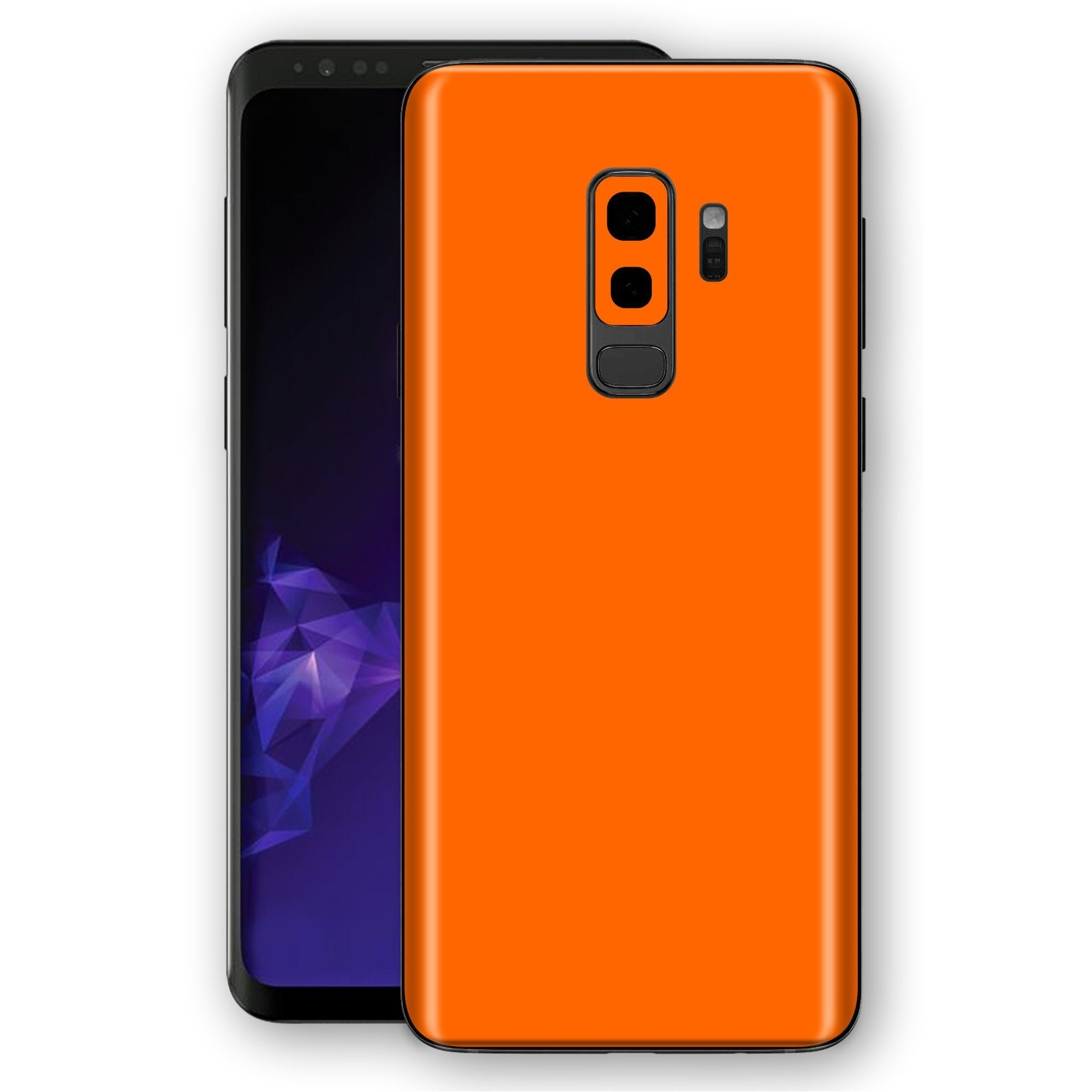 Samsung GALAXY S9+ PLUS Orange Glossy Gloss Finish Skin, Decal, Wrap, Protector, Cover by EasySkinz | EasySkinz.com