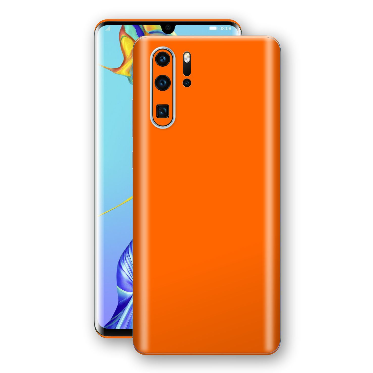 Huawei P30 PRO Orange Glossy Gloss Finish Skin, Decal, Wrap, Protector, Cover by EasySkinz | EasySkinz.com