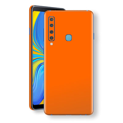 Samsung Galaxy A9 (2018) Orange Glossy Gloss Finish Skin, Decal, Wrap, Protector, Cover by EasySkinz | EasySkinz.com