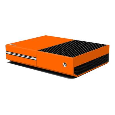 Xbox One Console Orange MATT Skin Wrap Sticker Decal Protector Cover by EasySkinz