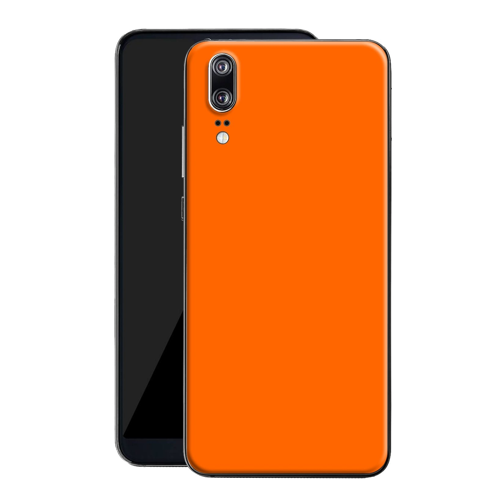Huawei P20 Orange Matt Skin, Decal, Wrap, Protector, Cover by EasySkinz | EasySkinz.com