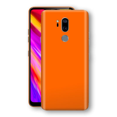 LG G7 ThinQ Orange Glossy Gloss Finish Skin, Decal, Wrap, Protector, Cover by EasySkinz | EasySkinz.com