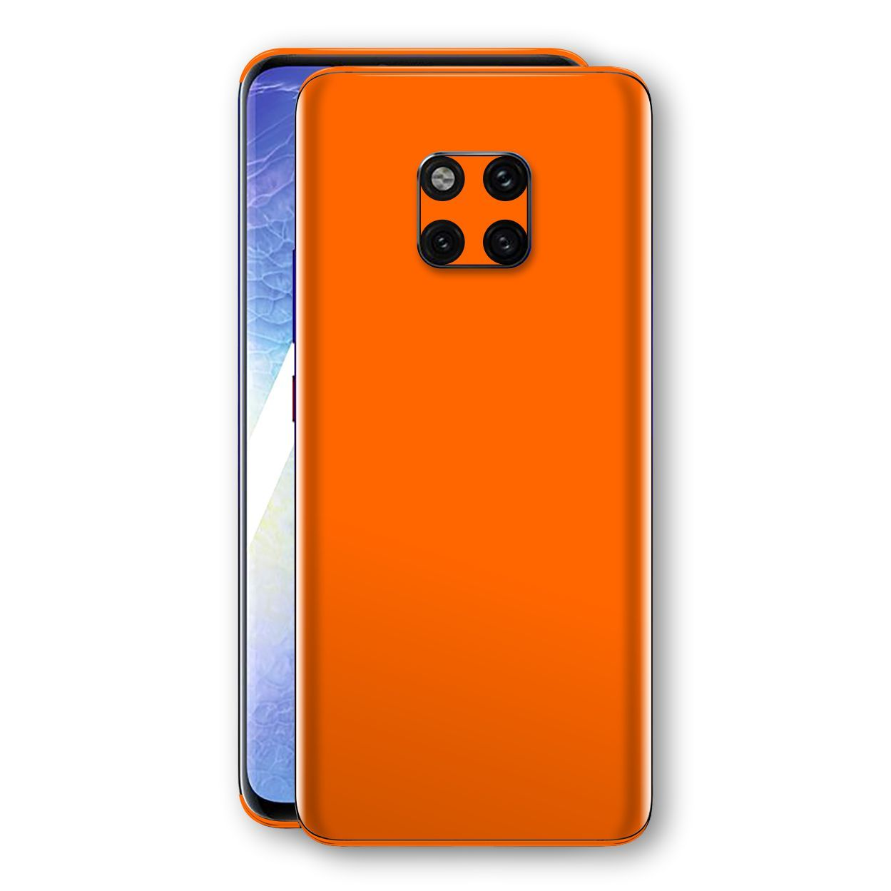 Huawei MATE 20 PRO Orange Glossy Gloss Finish Skin, Decal, Wrap, Protector, Cover by EasySkinz | EasySkinz.com