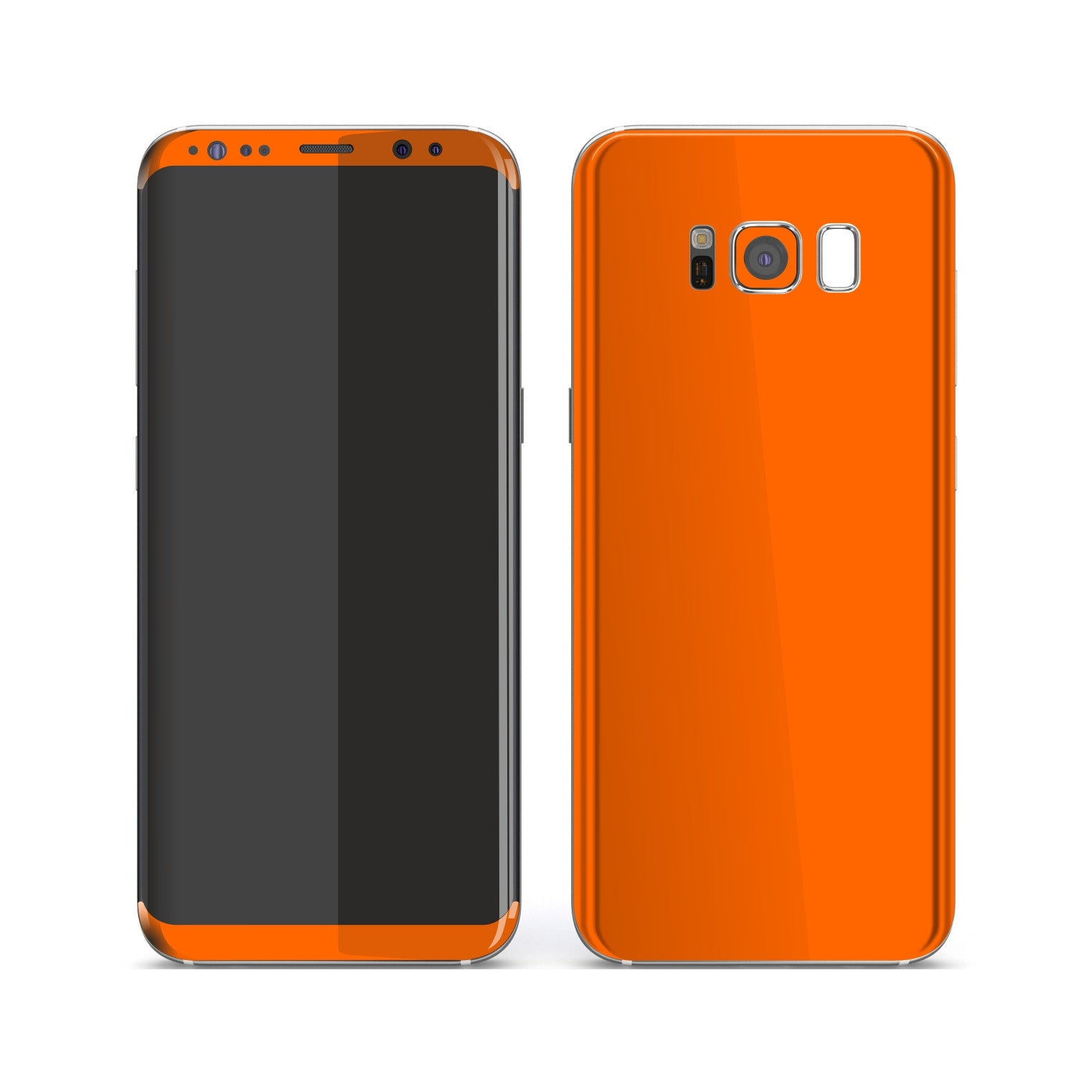 Samsung Galaxy S8 Orange Glossy Gloss Finish Skin, Decal, Wrap, Protector, Cover by EasySkinz | EasySkinz.com