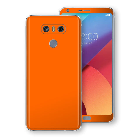 LG G6 Orange Glossy Gloss Finish Skin, Decal, Wrap, Protector, Cover by EasySkinz | EasySkinz.com
