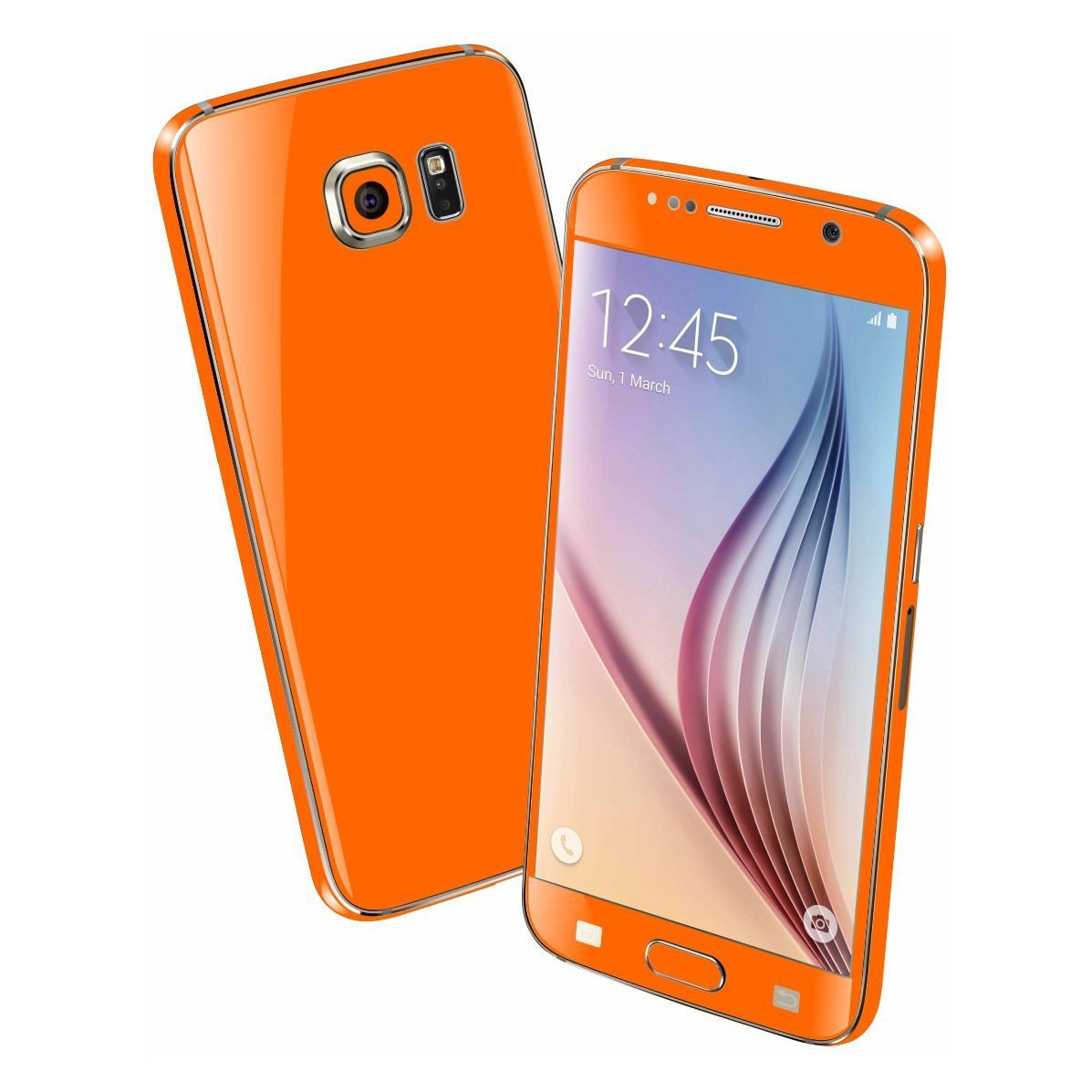 Samsung Galaxy S6 Colorful GLOSS GLOSSY Orange Skin Wrap Sticker Cover Protector Decal by EasySkinz