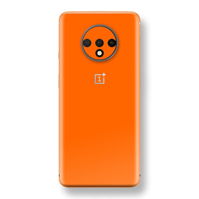 OnePlus 7T Orange Glossy Gloss Finish Skin, Decal, Wrap, Protector, Cover by EasySkinz | EasySkinz.com