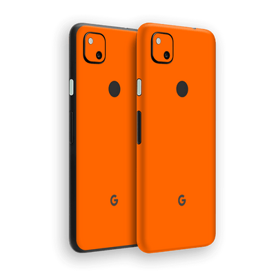 Google Pixel 4a Orange Glossy Gloss Finish Skin Wrap Sticker Decal Cover Protector by EasySkinz